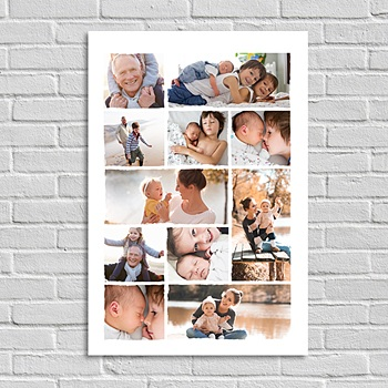 Poster Patchwork Familie