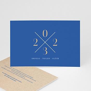 Weihnachtskarten - Blau & Kraft - 0