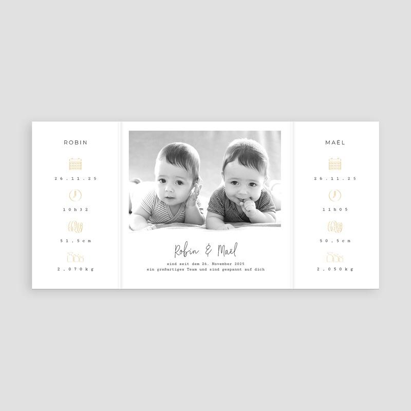 Geburtskarten für Zwillinge Our Little Ones pas cher