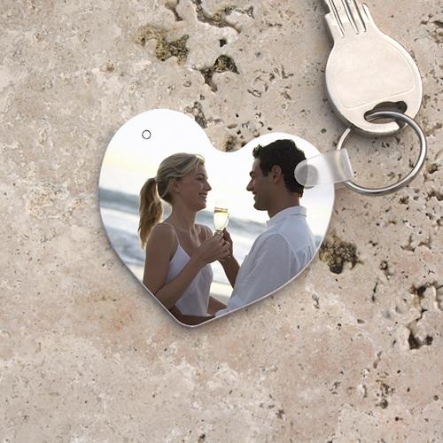 Personalisierte Foto-Schlüsselanhänger Herzform
