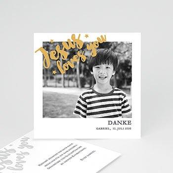 Einladungskarten Kommunion Foto  Love Gold
