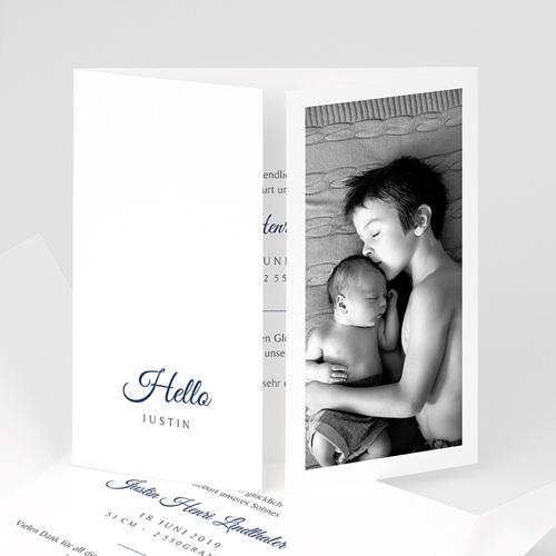 Geburtskarten für Jungen Hello Welcome