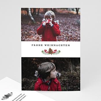 Weihnachtskarten - Tanne & Mistel - 0
