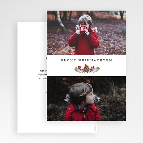 Weihnachtskarten - Tanne & Mistel 68521 thumb