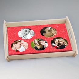 Tablett Geschenke Verpieltes Design rot
