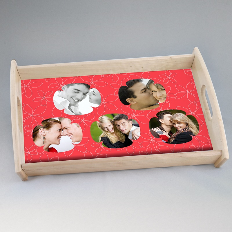 Personalisierte Foto-Tablett  Verpieltes Design rot