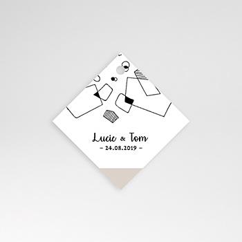 Anhänger Hochzeit - Abstrakte Formen - 0