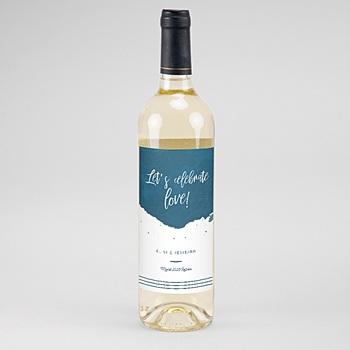 Flaschenetiketten Wein Gold & Aquarell