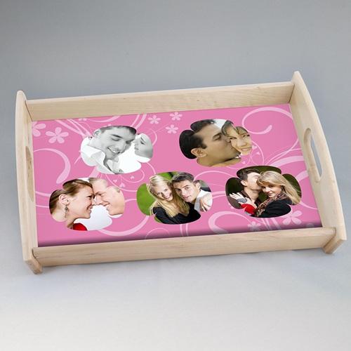 Foto-Tablett  - Verspieltes Design rosa 6859
