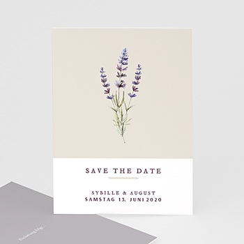Save The Date  - Lavendel - 0