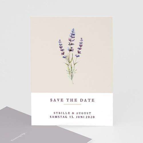 Save The Date Karten Hochzeit Lavendel