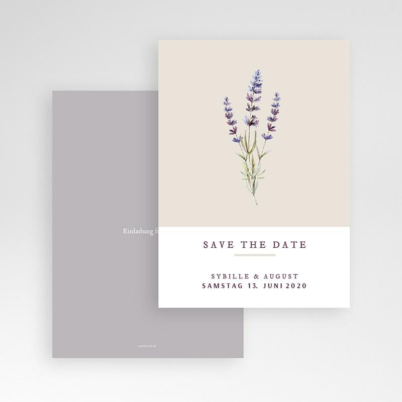 Save The Date Karten Hochzeit Lavendel pas cher
