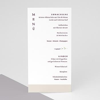 Menükarten Hochzeit - Lavendel - 0
