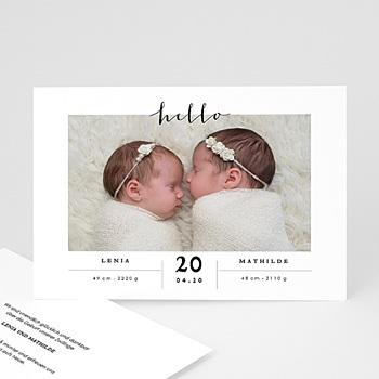Babykarten für Zwillinge gestalten - Clea & Thea - 0