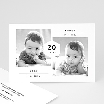 Babykarten für Zwillinge gestalten Ares & Anton