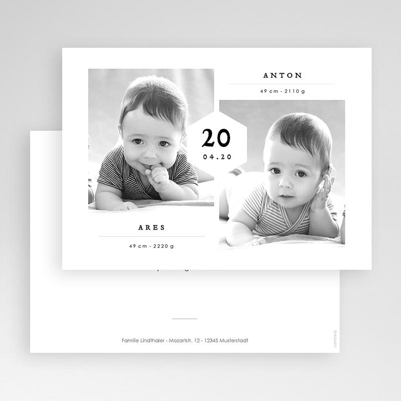 Geburtskarten für Zwillinge Ares & Anton gratuit