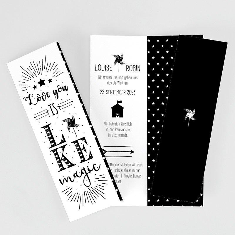 Kreative Hochzeitseinladungen Magic