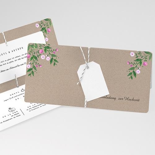 Einladungskarten Landhochzeit - Vintage Flower 68782 thumb