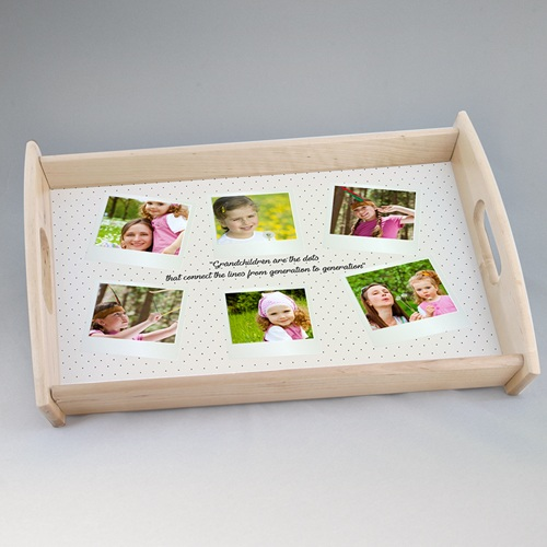 Personalisierte Foto-Tablett  Verpielter Charme
