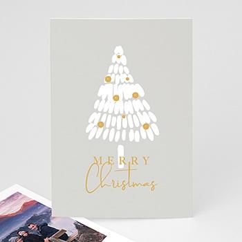 Weihnachtskarten - Weisser Tannenbaum - 0