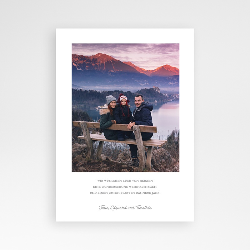 Weihnachtskarten - Weisser Tannenbaum 68936 thumb