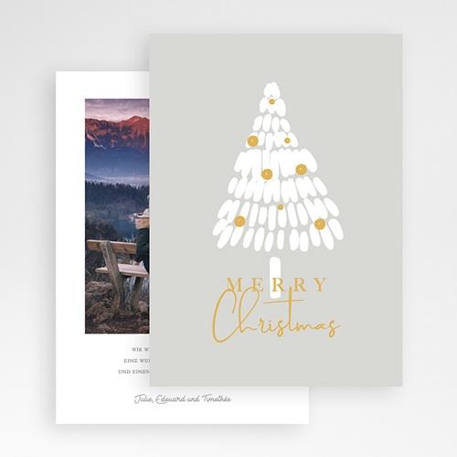 Weihnachtskarten - Weisser Tannenbaum 68937 thumb