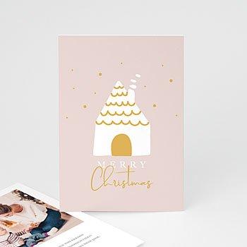 Weihnachtskarten - Haus im Schnee - 0