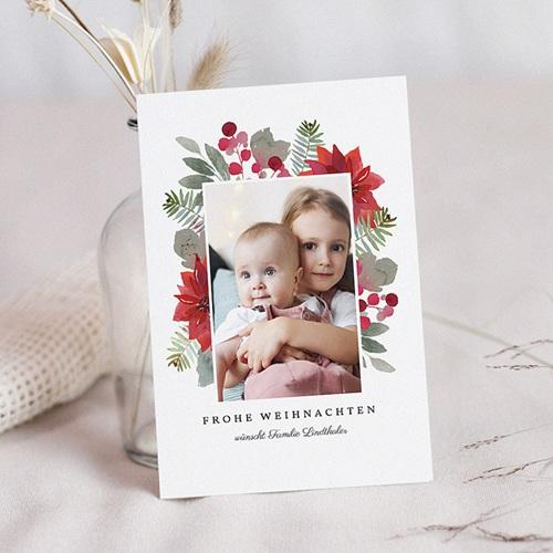 Weihnachtskarten Blooming