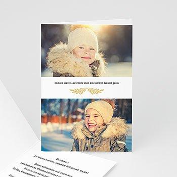 Weihnachtskarten - Goldzweig - 0