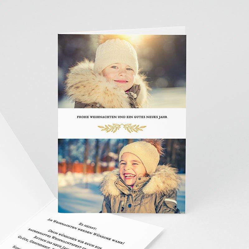Weihnachtskarten - Goldzweig 68971 thumb
