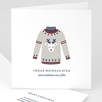 Weihnachtskarten - Wollpullover - 0