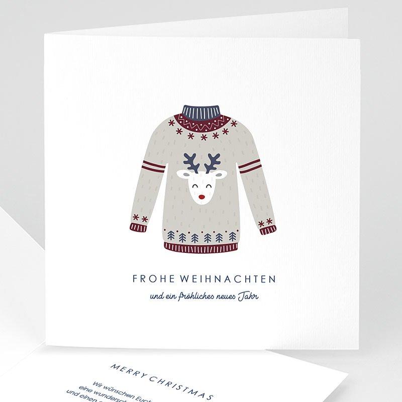 Weihnachtskarten Wollpullover