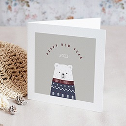 Neujahr Weihnachten Der Eisbär