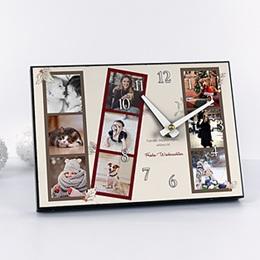 Fotouhr Weihnachten Retro Fotostreifen