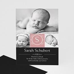 Dankeskarten Geburt Mädchen Johanna