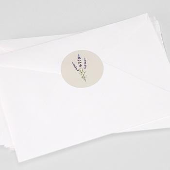 Aufkleber Hochzeit - Lavendel - 0