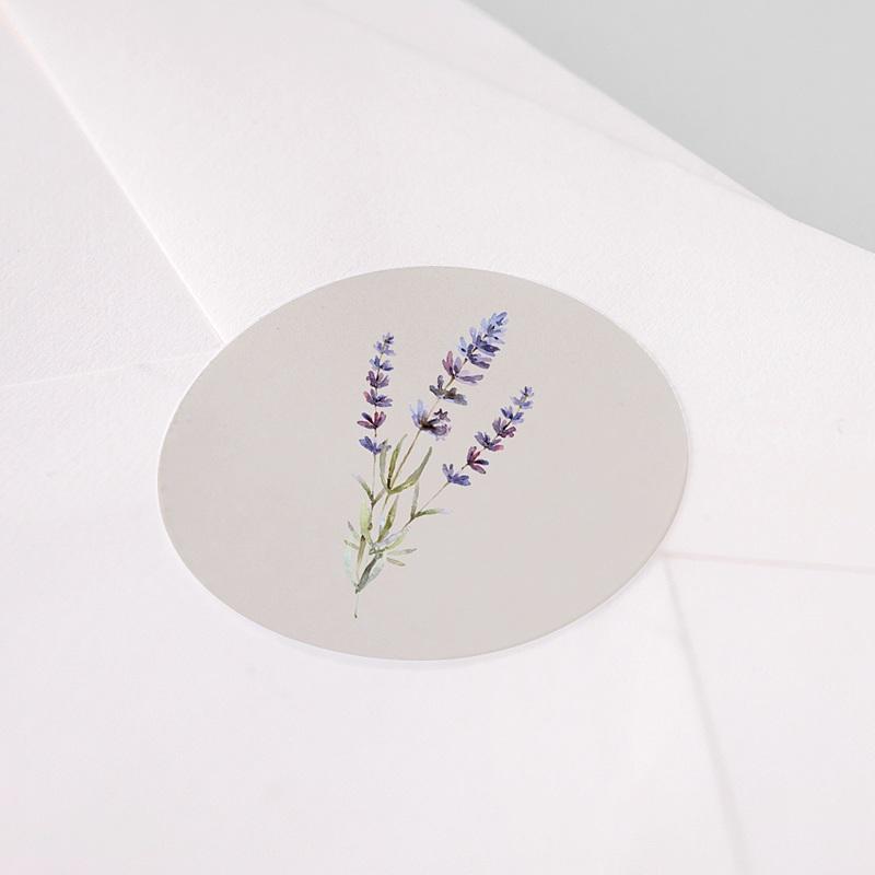 Aufkleber Hochzeit Lavendel pas cher