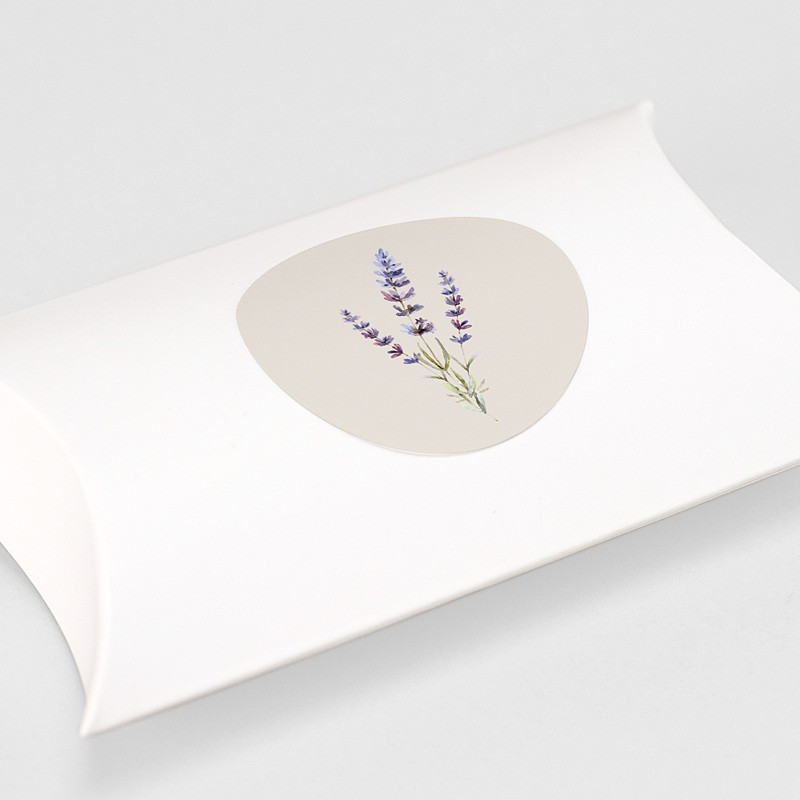 Aufkleber Hochzeit Lavendel gratuit