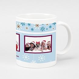 Fototassen Weihnachten Schneeflocken 1