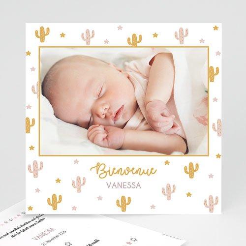 Geburtskarten für Mädchen Cactusmania