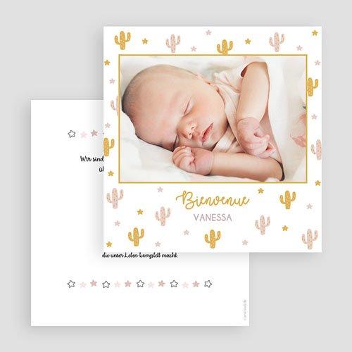 Geburtskarten für Mädchen Cactusmania gratuit