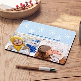 Foto-Mousepad Schneeflocken 1