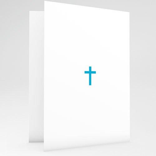 Einladungskarten Konfirmation Ornament blau - mit Farbvarianten gratuit