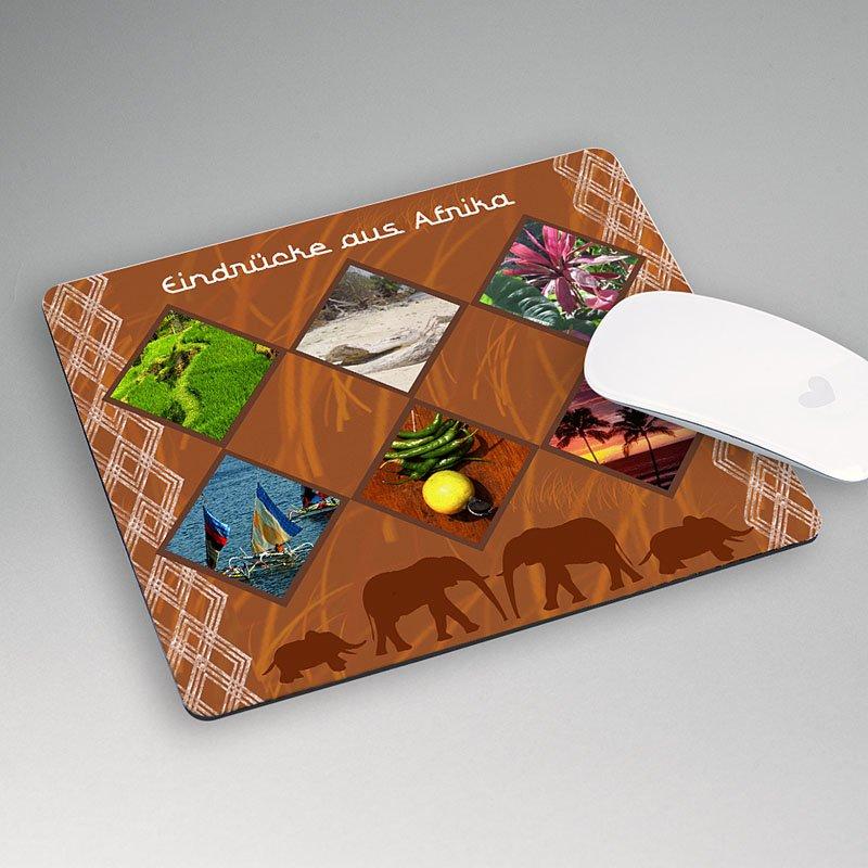 Personalisierte Foto-Mousepad Ebenholz, 3 fotos