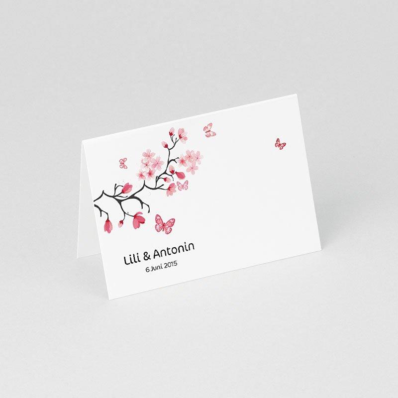 Tischkarten Hochzeit personalisiert Blüten gratuit