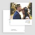 Dankeskarten Hochzeit mit Foto Gold gratuit