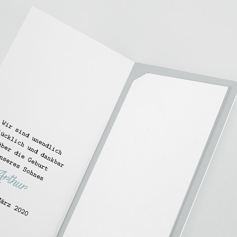 Geburtskarten mit Storch Blauer Storch pas cher