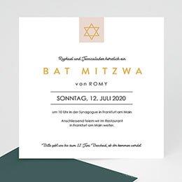 Bat Mitzvah Einladung David