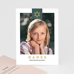 Danksagungskarten Bar Mitzvah Davidstern