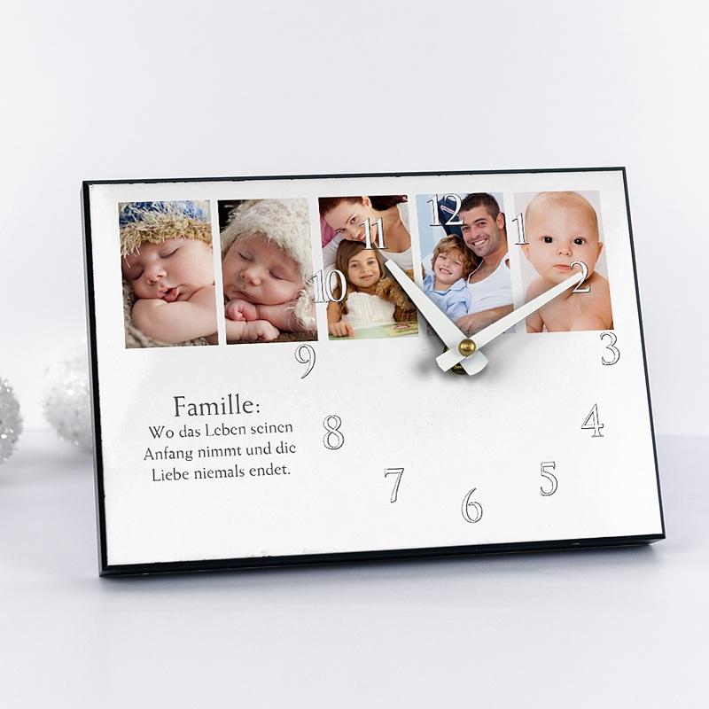 Personalisierte Fotouhr Mini Fotoserie